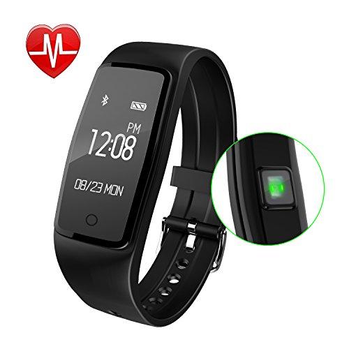 Fitness Armband,GULAKI Pulsmesser Uhr Bluetooth 4,0 Fitness Tracker Mit Herzfrequenz,Fitness Uhr,Fitness Uhren, Aktivitätstracker, Remote Shoot, Anrufen / SMS, finden Telefon für Android iOS Smartphon
