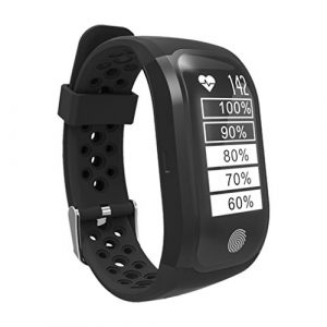 GPS tslmj Bluetooth 4.0 Smart Watch, Herzfrequenz Monitor und IP68 wasserdicht Smart Wristband Fitness Tracker für IOS und Android.