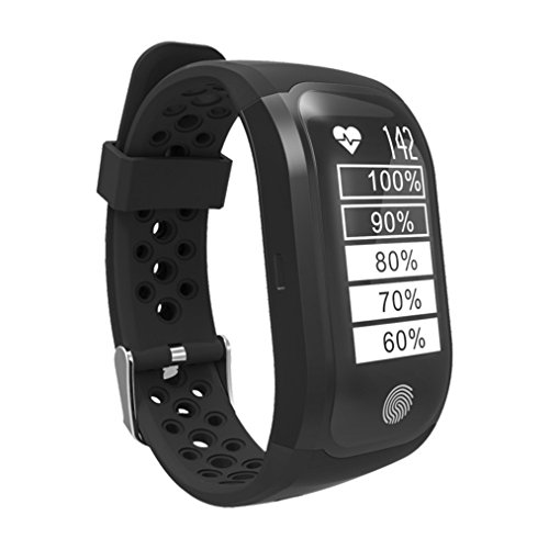 GPS tslmj Bluetooth 4.0 Smart Watch, Herzfrequenz Monitor und IP68 wasserdicht Smart Wristband Fitness Tracker für IOS und Android.