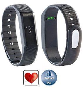 newgen medicals Sporttracker: Bluetooth-4.0-Fitness-Armband FBT-55.w mit Nachrichten-Anzeige (Bluetooth Fitness Armbänder mit Nachrichtenanzeige)