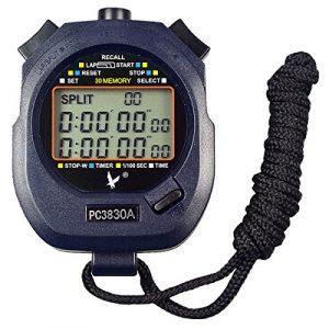 Leap Digital Professional Handheld LCD Chronograph Sport Stoppuhr, three-row 30Erinnerungen Bahnenzähler Running Timer.