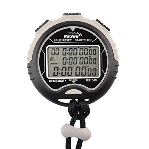 Sport Stoppuhr, foxom Professionelle wasserdichte Digital Chronograph Timer, tre-fila 60-Speichermodul Pista 1/100von nach Genauigkeit