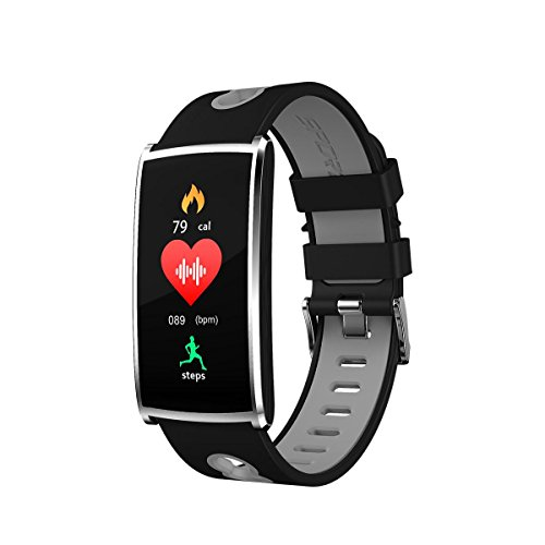 CFZHANG intelligente Armbänder Herzfrequenzmesser Fitness Aktivitäts-Tracking Bluetooth 4,0 Routenfunktion Multisport-Modus GPS-Sportuhr Cardio Eingebauter mit Pulsmesser Smart Tracker mit Schrittzäh