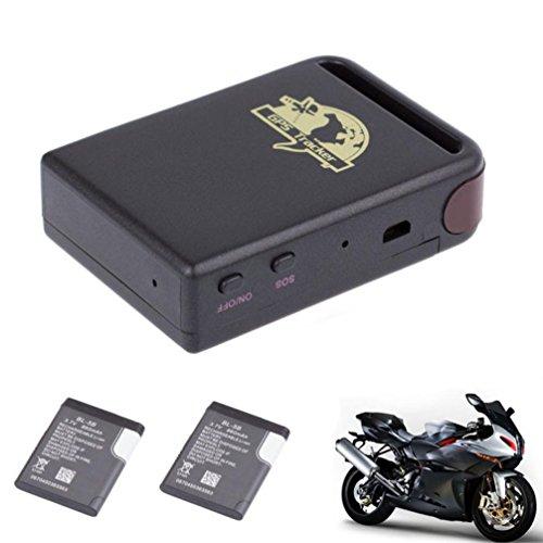 Fulltime® TK102 GPS / GSM / GPRS-Tracker Auto-Träger Mini Tracking-Gerät + 2 Batterie, für Kinder Haustiere das Alte