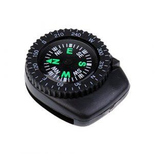 MagiDeal 25mm Mini Uhrband Clip-on Navigation Handgelenk Kompass, Outdoor Kompass, Camping Wandern im Freien Notfall Überleben Werkzeug