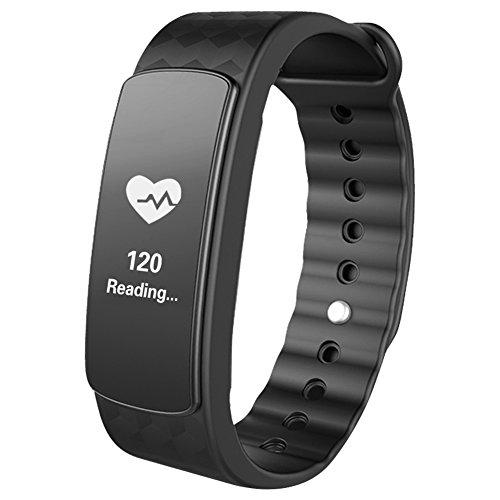 Pulsuhr, Surwin Aktivitätstracker mit Pulsmessung, Sports/Schlafüberwachung und Nachrichtbenachrichtigung, Fitness tracker für Andorid (4,4 oder höhrer) oder IOS (8,0 oder hörer) Smartphone