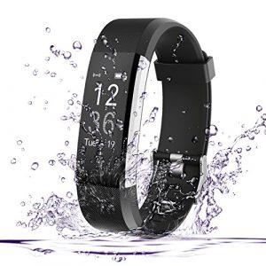Fitness Tracker, AmyTech Aktivitätstracker mit intergrierter Herzfrequenzmessung Pulsuhr IP67 Wasserdicht Smart Armband für Android und IOS Smartphones