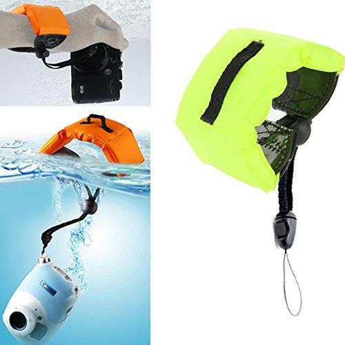 Schwimmende Handschlaufe Unterwasser Armband mit Gürtel für GoPro Hero 4 | 3+ | 3 | 2 | 1 | Powershot D20 | D30 | Mini Camcorder SJ4000, Farbe: grün