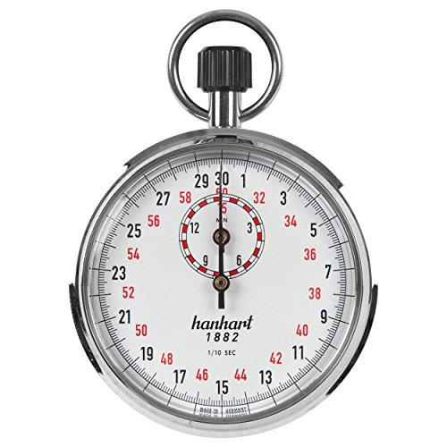 ORIGINAL Hanhart Kronenstopper Stoppuhr Stopuhr Stop Uhr 1/10 Sek. Einteilung