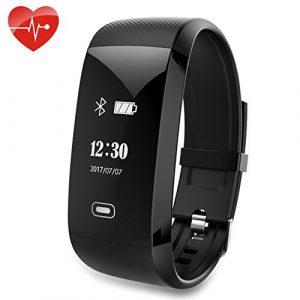 Kainuoa Armband-Aktivität Wasserdichter Intelligenter Plusera mit Kalorien- und Schlafmonitor, Pulsmesser, Mitteilungsmitteilung, Schrittzähler, Kamera-Steuerung, Schrittzähler, Uhr, Bluetooth 4.0 Kom