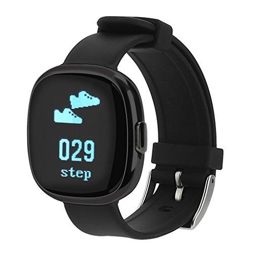 NONMON Blutdruck Herzfrequenz Monitor Fitness Tracker Pulsuhr Glasschirm