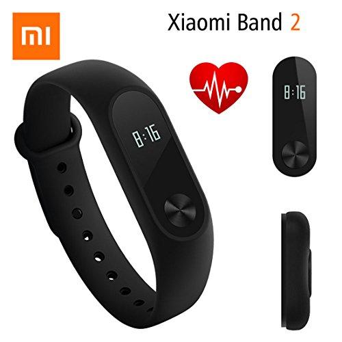 Fitness Tracker, Original Xiaomi Mi Band 2 Bluetooth 4.0 Armband-Armband mit OLED Display Wasserdicht Smart Herzfrequenz Outdoor Electronics Sport pedometers für Damen, Kinder und Herren
