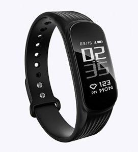 Fitness Tracker, DAWO Fitness Armbanduhr Wasserdicht Fitness Tracker HR mit Herzfrequenz / Schlafanalyse / Kalorienzähler / Aktivitätstracker Schrittzähler – Smart Fitness Armband Android IOS