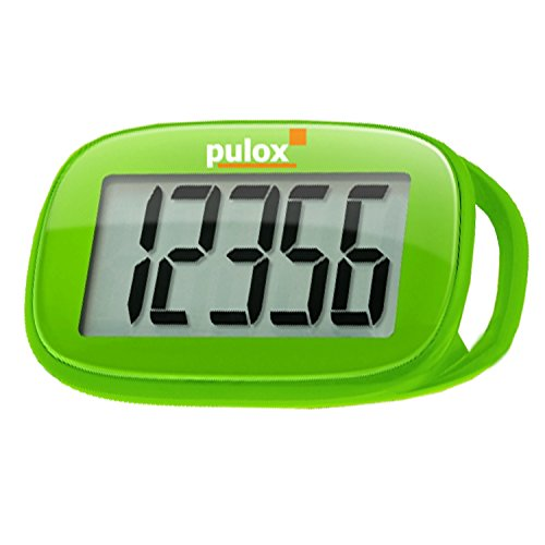 Schrittzähler Pulox PS-100 Pedometer mit 3D Sensor in Grün