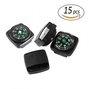 REKYO 15St Armband Kompass Mini-Kompass für Paracord Armband Flüssigkeit gefüllten Kompass für Notfallkoffer Survival Armband Paracord Armbänder und Schlüsselanhänger