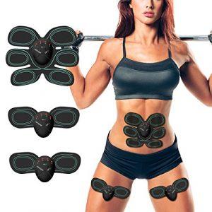 Bauchmuskeltrainer Elektrisch ESMK Elektrostimulator Muskel EMS-Training Mann/Frauen Massage-gürtel Elektrostimulation Fettverbrennungn Massage-gerät