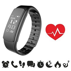 endubro i7HR Fitness Armband   Fitness Tracker mit Herzfrequenz   Aktivitätstracker   Smart Bracelet   Schrittzähler   Benachrichtigungen   Fitness Uhr Wasserdicht IP67 für Android und IOS