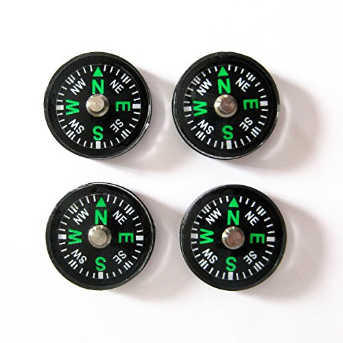 4 Stück Kompass winzig 2cm