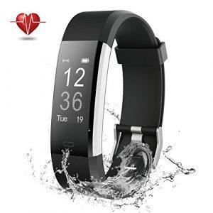 Fitness Tracker, NOVETE Fitness Armband mit Herzfrequenzmesser, Schrittzähler, Schlafmonitor, Aktivitätsmesser, Anruf/SMS Alarm, IP67-Wasserdicht, Bluetooth 4.0 und für Android sowie iOS