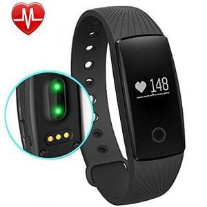 Fitness Armband AsiaLONG Schrittzähler Uhr Fitness Tracker mit Herzfrequenz/ Aktivitätstracker/ SMS SNS Anrufe Push/ Wecker /Schlaf-Monitor/ Kalorienzähler/ Kamerabedienung für Android iOS Handy