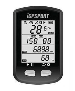 GPS Fahrradcomputer mit ANT + Funktion iGPSPORT iGS10 Radfahren Computer Unterstützung Pulsmesser und Geschwindigkeit Kadenz Sensor Anschluss