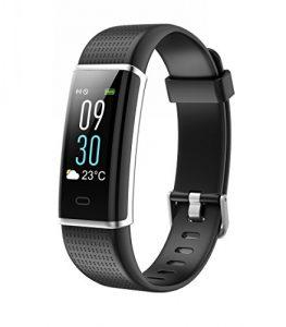 TOOBUR Fitness Armbanduhr, IP68 Wasserdicht Fitness Tracker mit Herzfrequenz Schrittzähler Schlafmonitor und Kalorienzähler, Aktivitätstracker Armband Uhr für Damen Herren und Kinder