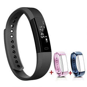 NAKOSITE SB2433 Schrittzähler, Fitness Armband, Activity Tracker, Fitness Tracker, Kalorienzähler, Schlafüberwachung, Distanz, Sportuhr, mit Lauf und Jogging App von VeryFit. Verbindet sich NUR mit iPhone und Android Telefonen. Erfordert Bluetooth 4.0,…