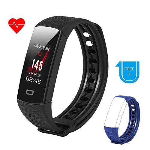 Thinkcase Fitness Tracker mit Pulsmesser, Schrittzähler Uhr Fitness Armband Wasserdicht Duschen Aktivitätstracker Schlafanalyse Kalorienzähler Anruf/SMS Kompatibel mit iPhone und Android