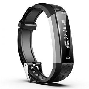 Smiphee Fitness Tracker, N1 Schrittzähler Armband mit Schlafmonitor/Distanz/ Kalorienverbrauch/Anruf SMS APP Wecker Vibrationsalarm, IP67 Wasserdichtes Fitness Armband für Kinder Frauen Männer