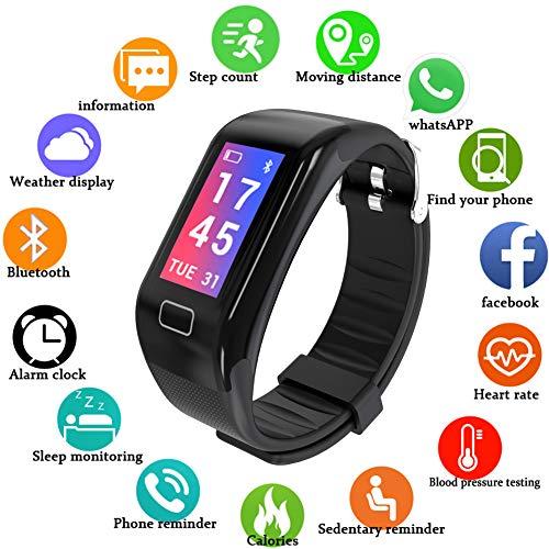 Lige Fitness Tracker,Wasserdicht IP68 Fitness Armband mit Pulsmesser 0,96 Zoll Farbbildschirm Smartwatch Aktivitätstracker Pulsuhren Schrittzaehler Uhr Smart Watch Fitness Uhr für Damen Herren
