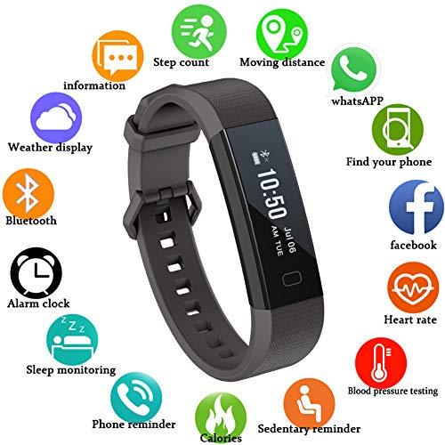 Lige Fitness Tracker mit HD Farbdisplay Clevere Fitness Uhr Armband, Aktivitäten Tracker, Schlaf, Puls, Sport, GPS, Tracker, Kalorienzähler, Bluetooth, Kompatibel mit iOS & Android