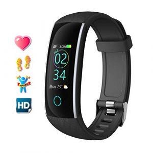 Fitness Armband mit Pulsmesser Wasserdicht Fitness Tracker Farbbildschirm Aktivitätstracker Fitnessarmband Herzfrequenz Armbanduhr Pulsuhren Schrittzähler Uhr Smart Watch Fitness Uhr für Damen Herren mit iOS Android Handy