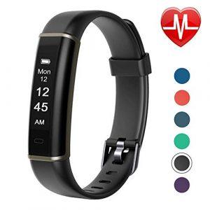 Letsfit Boys 1 Armband mit Herzfrequenz, Fitness Tracker Aktivitätstracker Schlaf-Monitor Schrittzähler Smartwatch Pulsuhren IP67 Wasserdicht für Herren, Damen und Kinder, schwarz, Einheitsgröße