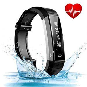 Fitness Armband, ASITA Wasserdicht IP67 Fitness Tracker Smart Watch mit Herzfrequenz Schlafmonitor und Kalorienzähler Aktivitätstracker Armbanduhr, Fitness Uhr für iOS Android Handy