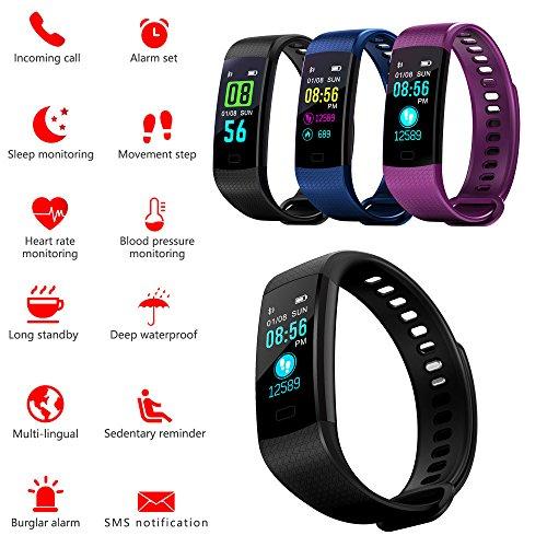BZLine Bluetooth Smartwatch, Smart Watch Uhr Intelligente Armbanduhr Fitness Tracker Armband Sport Uhr mit Herzfrequenz Aktivität Schrittzähler Blutdruckuhr für Kinder Frauen Männer
