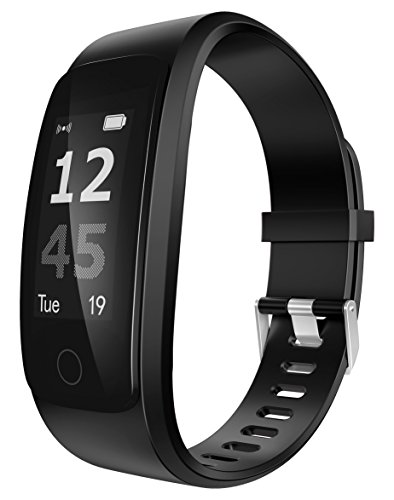 Innomark iBeat Pro Fitnesstracker | Pulsmesser mit Bluetooth (komp. mit Android und iOS) | Schlaftracker | Kalorienzähler | Armband-Fitness-Uhr | für Damen u. Herren | Schwarz