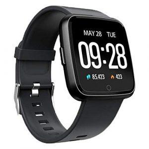 StayUp Nx 1 Fitness Smartwatch mit Aktivitätstracker, Pulsmesser, Schrittzähler, Wasserdicht IP67, Benachrichtigungsalarm Whatsapp SMS Anruf