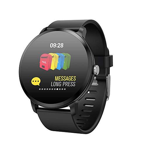 Fuibo Smartwatch, Bluetooth Musiksteuerung Herzfrequenz Aktivität Schrittzähler Kalorien Plating Smart Armband für Frauen Männer Armbanduhr Sport Fitness Tracker Armband