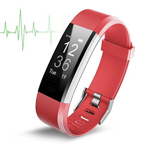 IDOOSMART Fitness Armband mit Pulsmesser,Wasserdicht IP67 Fitness Tracker,Farbbildschirm Aktivitätstracker Fitness Uhr Smartwatch,Pulsuhren,Schrittzähler Uhr,Smart Watch für Damen Herren