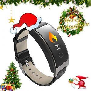 ZEERKEER Smart Watch Aktivitäts-Tracker mit Pulsmesser, IP67 Wasserdichtes Smart-Armband mit Kalorienzähler, Blutdruckmessgerät, Schrittzähler für Damen und Herren (Schwarz)