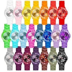 Taffstyle Farbige Sportuhr Armbanduhr Silikon Sport Watch Damen Herren Kinder Analog Quarz Uhr