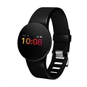 Kisshes Fitness Armbanduhr Tracker Damen Männer Aktivitätstracker mit Kamera Herzfrequenz Schrittzähler Schlafmonitor, IP68 Wasserdicht Smartwatch für Andriod und IOS, Uhr Stoppuhr Pulsmesser