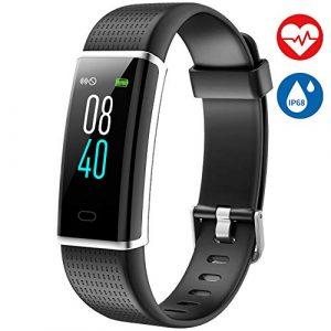 AISIRER Fitness Armband mit Pulsmesser Fitness Tracker Wasserdicht IP68 Farbbildschirm Schrittzähler mit 14 Trainingsmodi Vibrationsalarm Anruf SMS Whatsapp Kompatibel mit iOS Android Handy