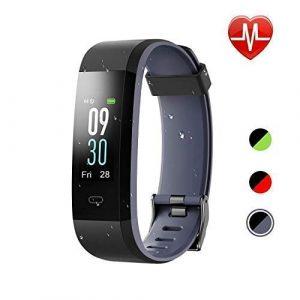 EDLUX Fitness Armband Smartwatch Pulsmesser Touchscreen 115 Plus Activitätstracker mit Herzfrequenz, Schlafmonitor, Wasserdicht IP68 Bluetooth 20 Modi Tracker für Android IOS Handy