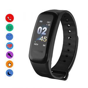 EJOLG IP67 Wasserdichte Smartwatch Unisex,mit Fitness trackers Pulsmesser Kalorienzähler schrittzähler usw.Damen und Herren Fitness Armband Uhr