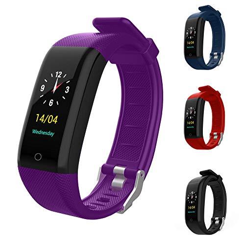 istary Fitness Armband Bluetooth Smartwatch Fitness Uhr Intelligente Armbanduhr Tracker Wasserdichter Aktivitäts Tracker Mit Herzfrequenz Blutdruckmessgerät Für Kinder, Frauen, Männer by
