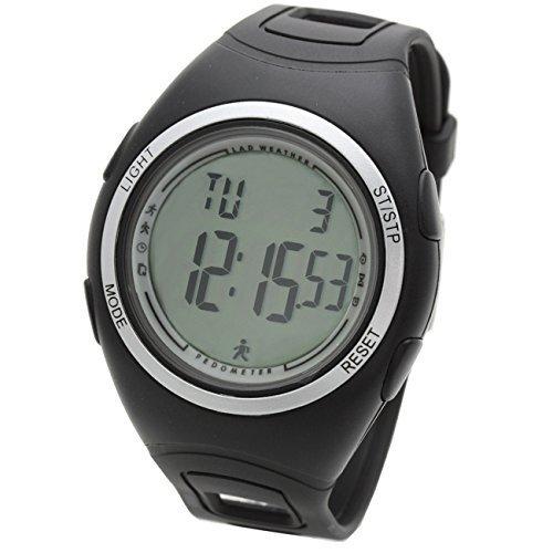 [LAD WEATHER] 3D Beschleunigungssensor Schrittzähler Übung & Fitness Kalorienzähler Laufen/Joggen / Gehen Sportuhr Herren Armbanduhr