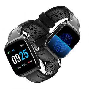 GLAMSVILL Fitness Armband, Fitness Tracker mit Blutdruckmessung Pulsmesser 1,30 Zoll Farbbildschirm Fitness Uhr Aktivitätstracker Wasserdicht IP67 Mehrsport Modus Smartwatch für Damen Herren Kinder