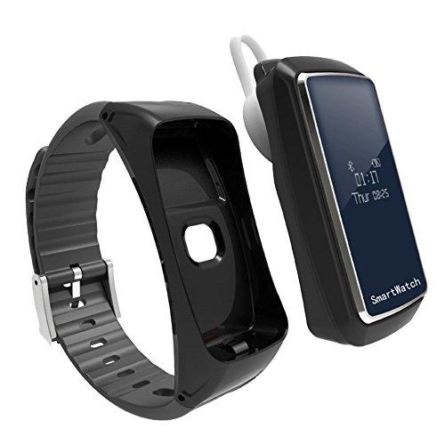 Muamaly Fitness Armband mit Pulsmesser - Fitness Tracker wasserdicht Aktivitätstracker Armbanduhr mit Schrittzähler Pedometer Kalorienzähler Smart Armband für Kinder Damen und Herren