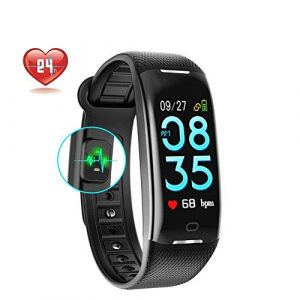 IDOOSMART Fitness Trackers,IP68 Waterproof with Heart Rate Monitor, Bluetooth 4.0 Waterproof Smart Fitness Wristband Silicone Bracelet with Pedometer Step and Sleep Monitor